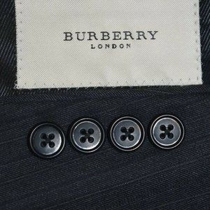 NWT 42R Burberry London Charcoal Gray SUIT